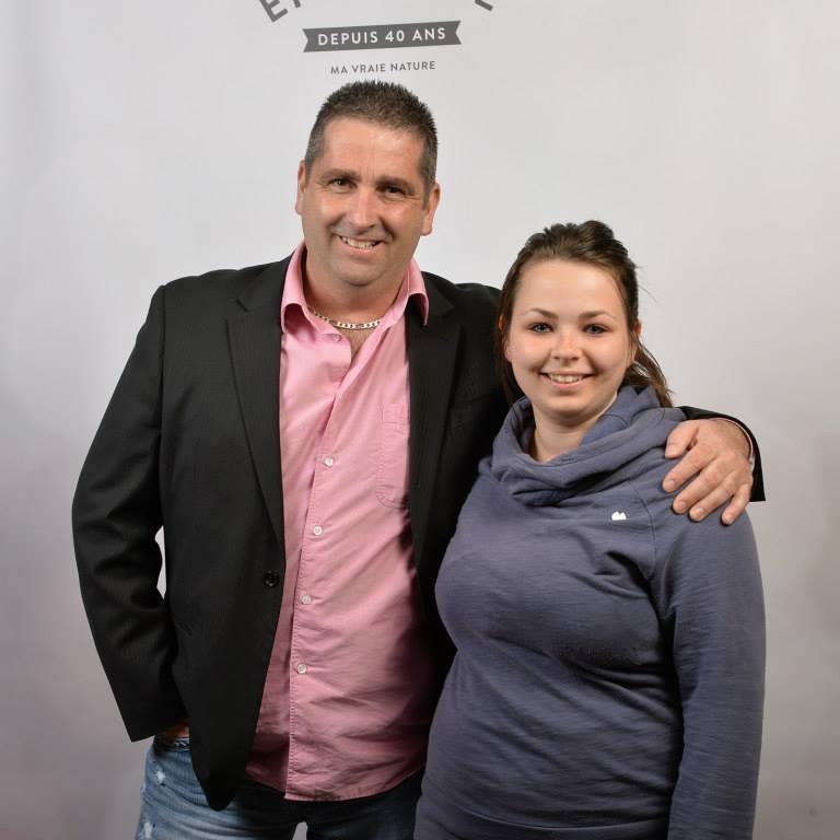 Célestin Simard et sa fille, Karine.